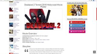download latest movie like deadpool 2 in HD| Torrent download-2