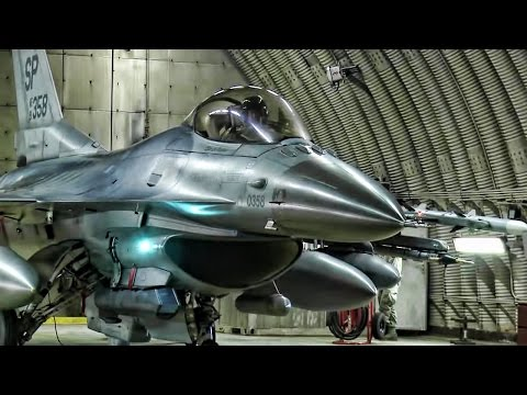 F-16 Fighter Jets At Spangdahlem Air Base Taxi & Takeoff