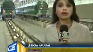 Começa teste do metrô de Fortaleza   TV Verdes Mares 19 01 11 - metrofor