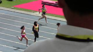 2014 Asian Junior Athletics Championships Round1 W100m Heat1