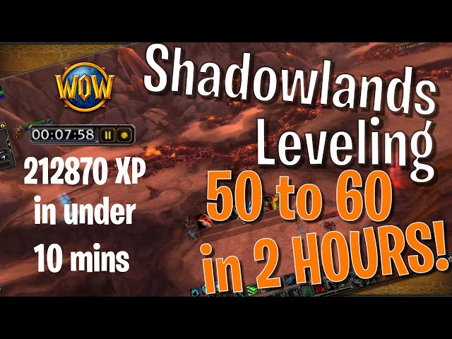 Level 50 to 60 in shadowlands in under 2 hours!