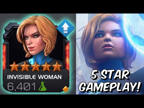 5 Star Invisible Woman Rank Up & Gameplay! - ENDGAME TANK! - Marvel Contest of Champions