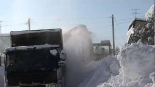 きたひろTV 「生活道路の排雪始まる 北広島市緑陽町2丁目」