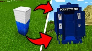 How To Spawn The TARDIS in Minecraft Pocket Edition! (Doctor Who Addon)