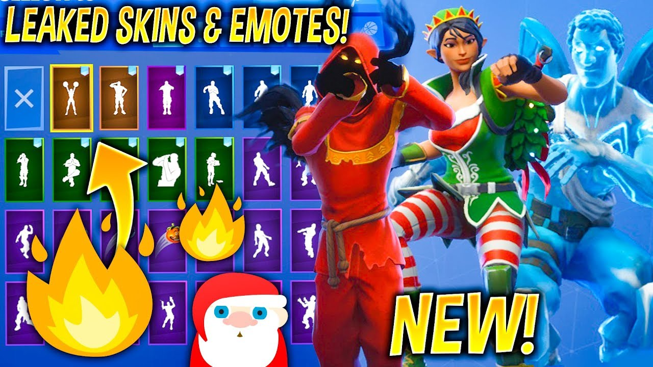 New All Leaked Fortnite Skins Showcase With Leaked Dances Emotes