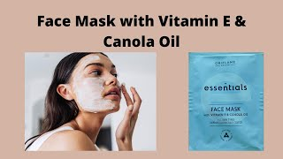 Oriflame Face Mask with Vitamin E Canola Oil 35765 Review weekly Skin Care with Vitamin B3