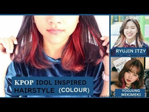 K Pop Idol Inspired Haircolour Itzy Ryujin And Wekimeki Yoojung Inspired Hairstyle Garnier