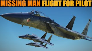 "15 x F-15C Missing Man Formation Flight In Memory Of Kenneth ""Kage"" Allen"