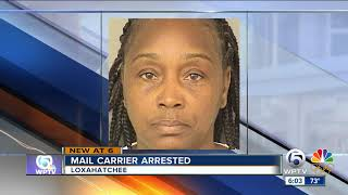 Mail carrier arrested, accused of stealing gift cards and cash from U.S. mail
