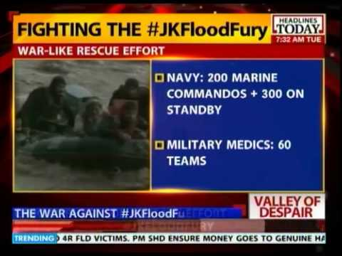 Army, Navy & Air Force all chip in for relief & rescue work in J&K