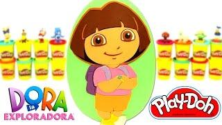 Huevo Sorpresa Gigante de Dora la Exploradora en Español de Plastilina Play Doh