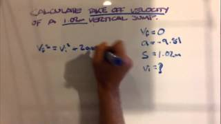 How to calculate iniтial velocity