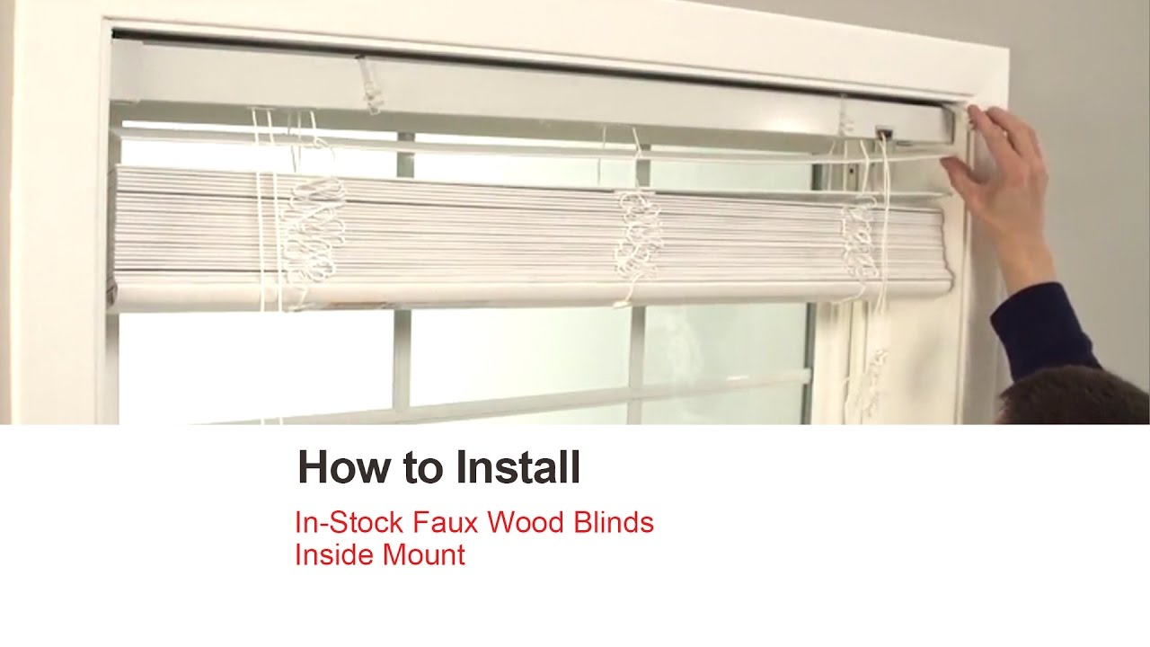 Bali Blinds How To Install In Stock Faux Wood Inside Mount