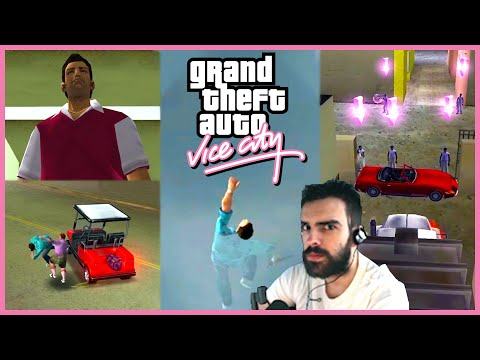 The BEST of Grand Theft Auto Vice City - My First Steps Outside Of GTA V |