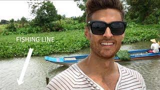 Boats ran over my fishing line! (Cu Chi, Hoc Mon, Vietnam)