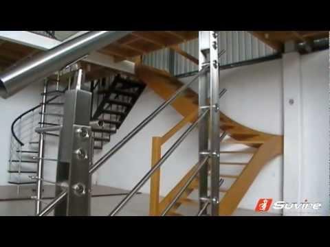 Sala de exhibici n escaleras suvire youtube for Escaleras de sala