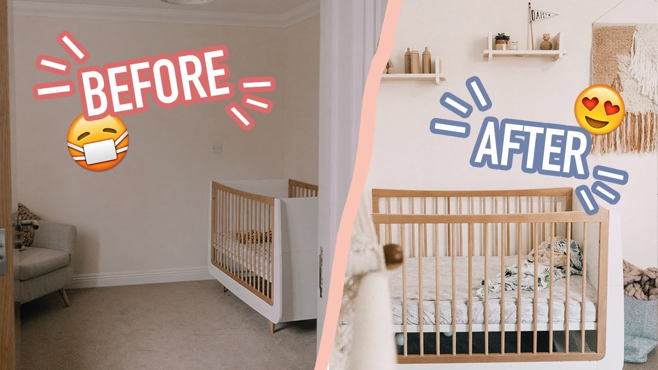 HUGE NURSERY TRANSFORMATION!!!! SO CUTE! (BEFORE AND AFTER) - YouTube