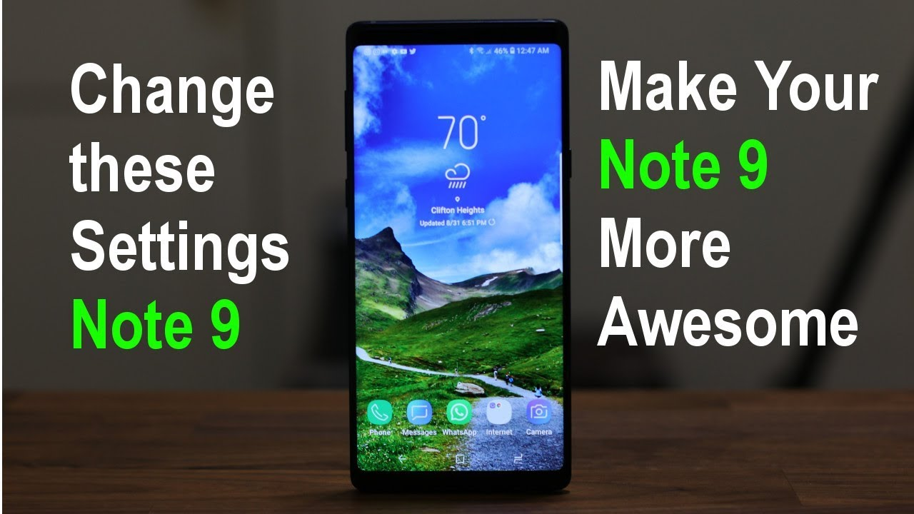 Samsung Galaxy Note 9 Change These 10 Settings Now Youtube