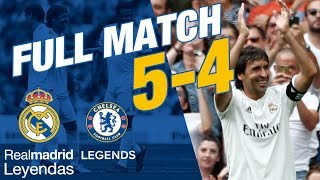 full match real madrid leyendas 5 4 chelsea legends