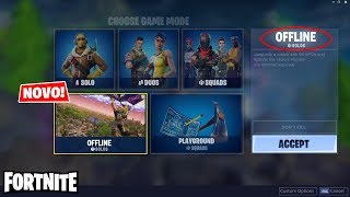 FORTNITE-NEW OFFLINE MODE AGAINST BOTS TO TRAIN