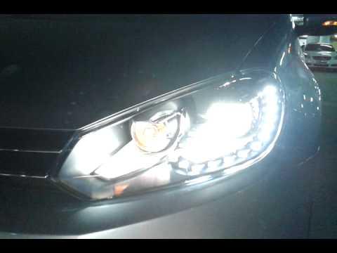 2010 2013 vw golf 6 golf gti mk6 headlight with 15 led drl youtube
