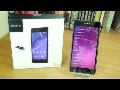 Sony Xperia Z2 unboxing