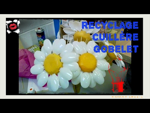 40 id es de recyclage avec des gobelets et cuill res en - Que faire avec des bouchons plastique ...