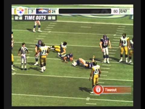 MADDEN NFL 07 Historic Teams Tournament 1975 Pittsburgh Steelers vs 1997 Denver Broncos