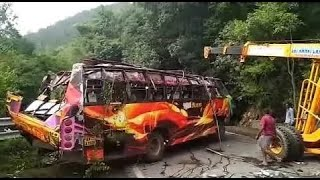 EXCLUSIVE  VIDEO || RPN PRIVATE BUS BEFORE & AFTER ACCIDENT IN DHIMBAM GHAT