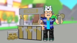 ROBLOX: I RODE A LEMONADE STAND IN THE MIDDLE OF THE STREET! (Adoptez-moi)-Jouer vieil homme
