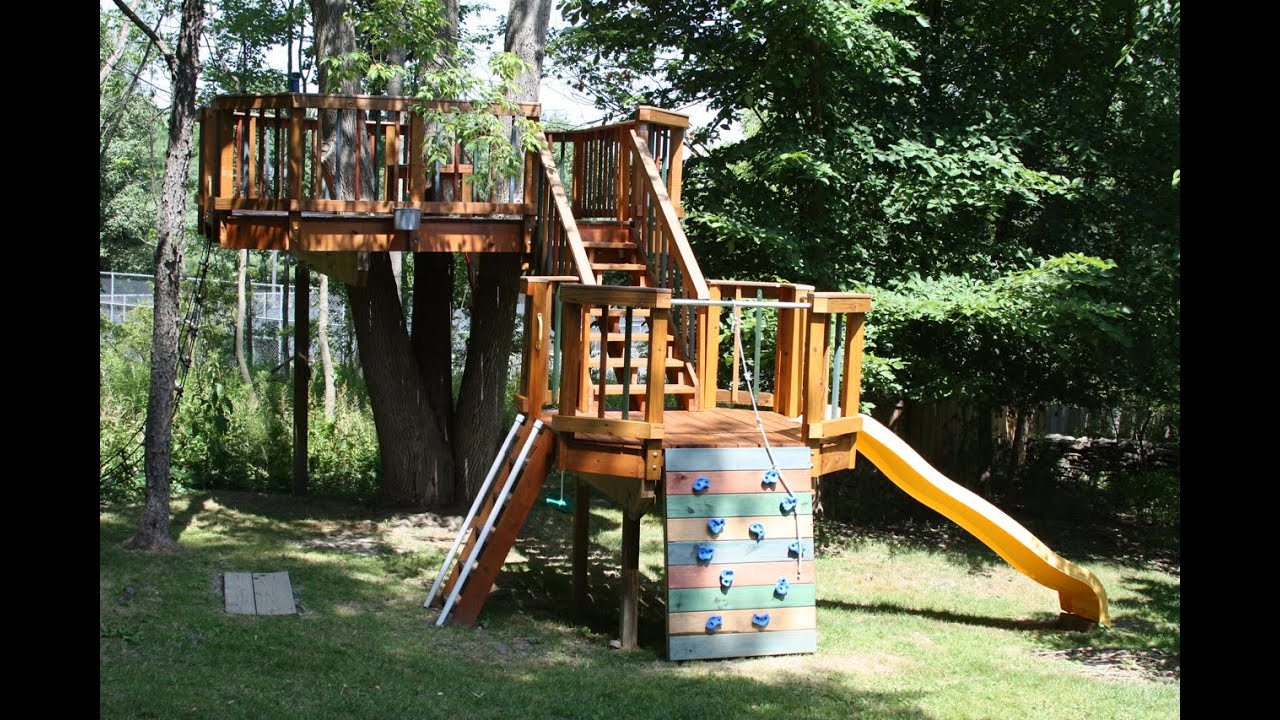 amazing backyard treehouse youtube