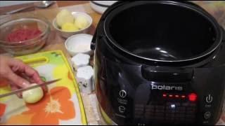 Домашние видео рецепты - тушенные тефтели с картошкой в мультиварке