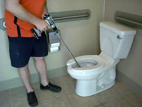 How To Unclog a Toilet Using The DrainDog ® Professional Drain ...