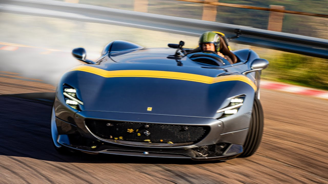 Racing The 1 7m Ferrari Monza Sp1 In Maranello Nico Rosberg Youtube
