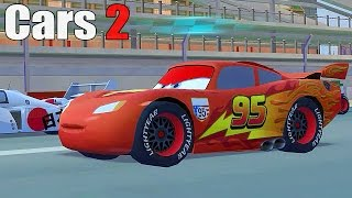 Cars 2 - Funny Video World Grand Prix - Racing With LIGHTNING MCQUEEN - Part #06