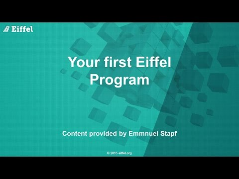 Your First Eiffel Program