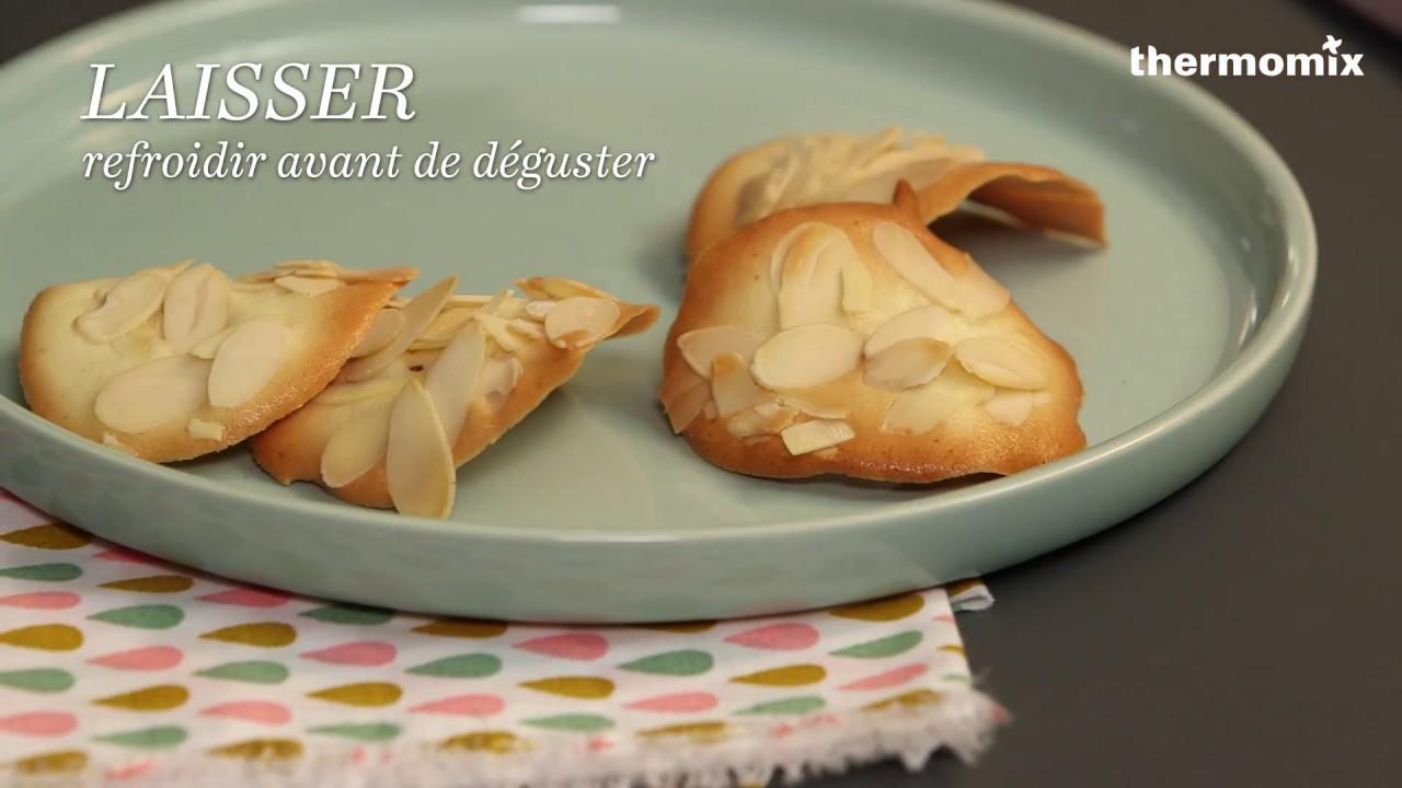 Les tuiles aux amandes au thermomix recette issue des - Ecole de cuisine thermomix ...