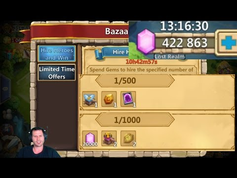 Rolling 150,000 For Hire Heroes & Win NEED THE GOODS Castle Clash