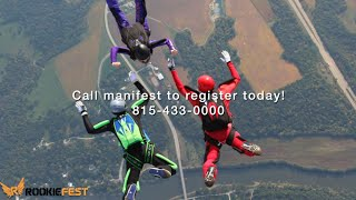 Why come to Skydive Chicago's Rookiefest?