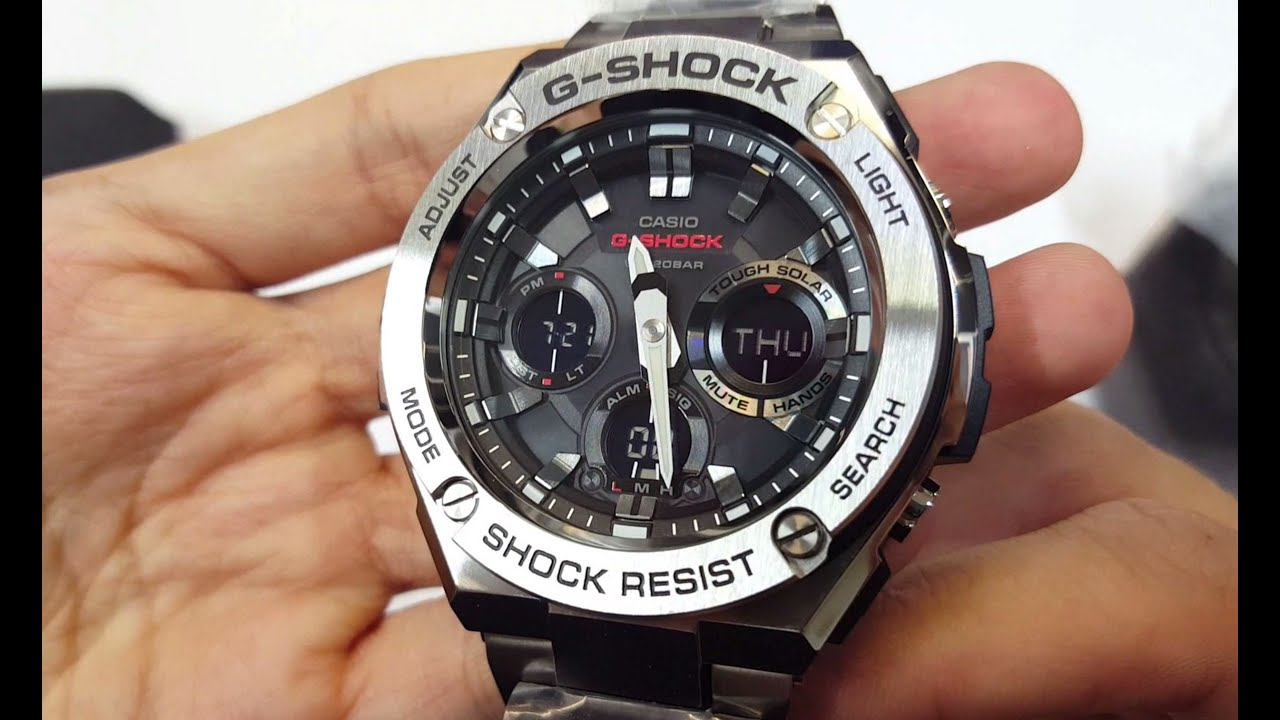 G Shock G Steel Gst S110d 1a Unboxing Youtube