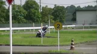 コーススラローム練習最終日・一般A選手2012