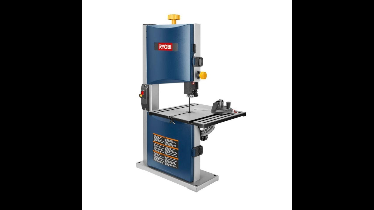 Ryobi bs904 9 inch bench top band saw cutting aluminum youtube Band saw table