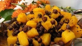 Butternut Squash & Black Chickpeas (vegetarian Thanksgiving Side) Indian Recipe