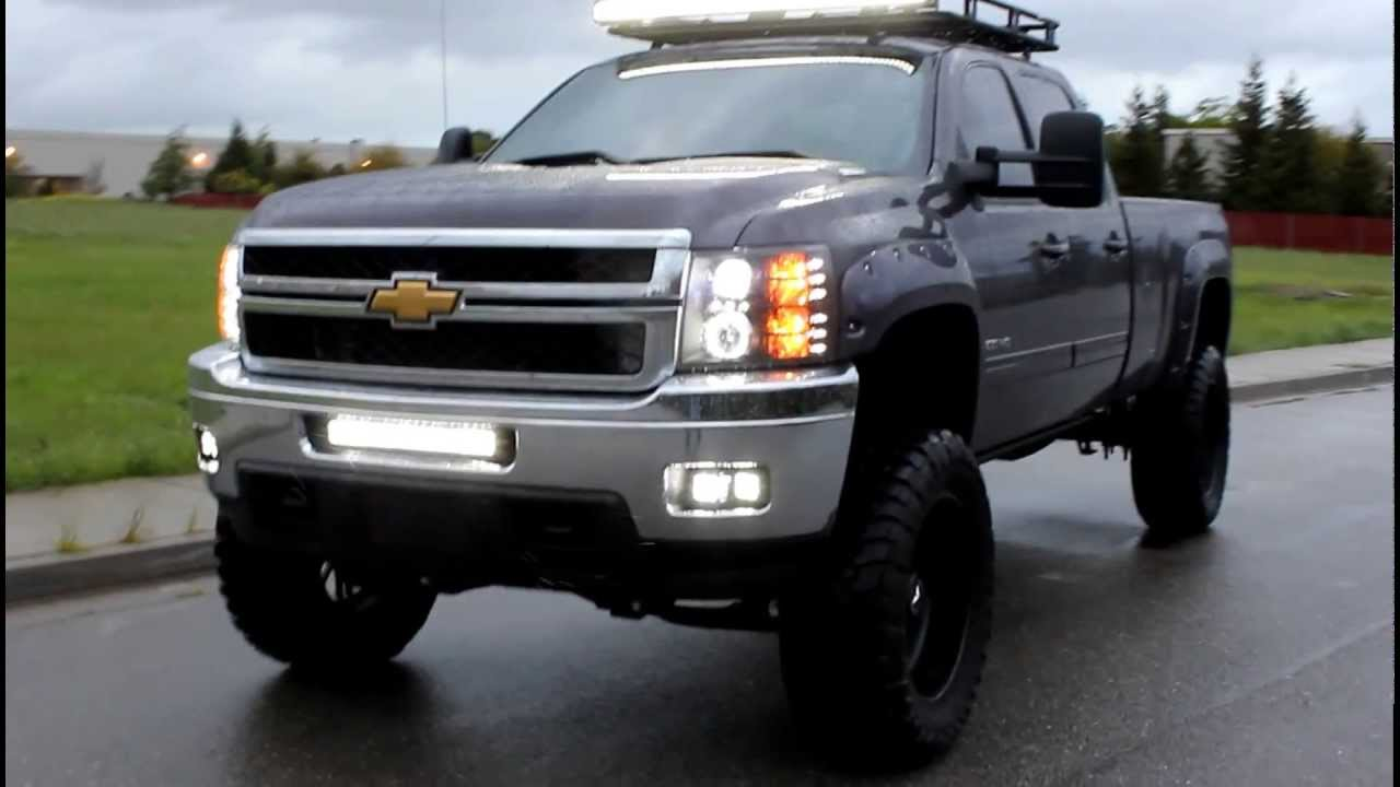 2011 Chevy Dmax 7 Quot Lift Amp 37 Quot S Rigid Led Lights Youtube