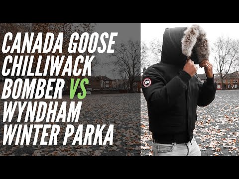 OUTDOOR WINTER TEST | CANADA GOOSE CHILLIWACK VS CANADA GOOSE WYNDHAM PARKA JACKET