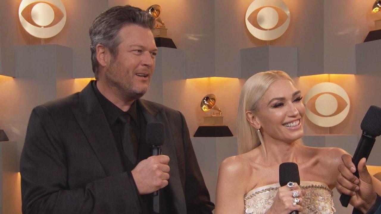 Blake Shelton DANCES as Gwen Stefani Gushes Over Him   GRAMMYs 2020