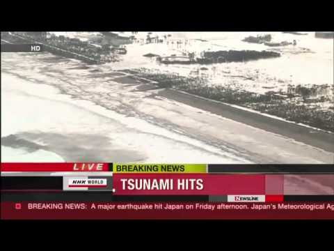 2 Amazing Live Footage of Tsunami hiting and destroying coast of Japan HD  津波   YouTube