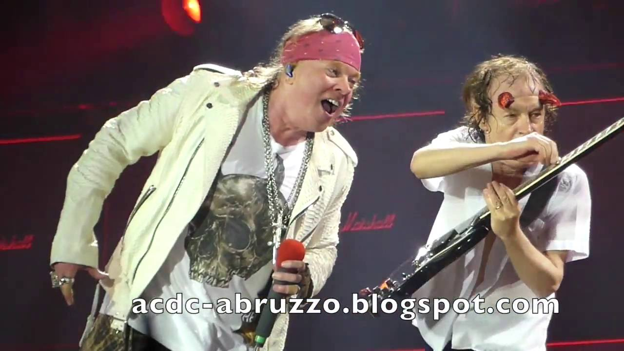 AC/DC and AXL ROSE - HIGHWAY TO HELL - Düsseldorf 15 June ...