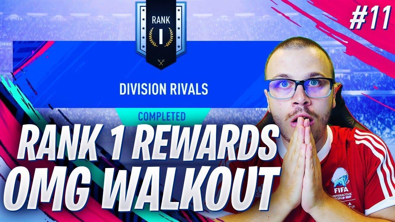 FIFA 19 RANK 1 DIVISION RIVALS REWARDS! INSANE WALKOUT! BOARD DOWN PLAYERS