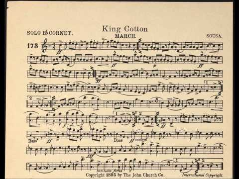 King Cotton march / Solo Cornet sheet music